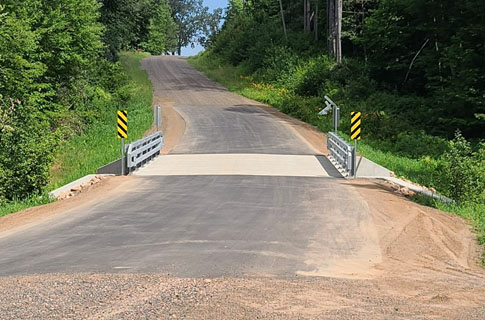 New bridge in the Town of Clinton replaced as part of the new Low-Risk Bridge Pilot Program.
